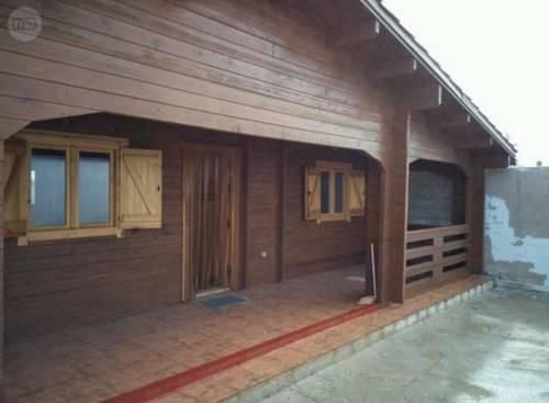 imagen 1 de Venta de terreno con casa de madera en Almodóvar del Pinar (Cuenca)